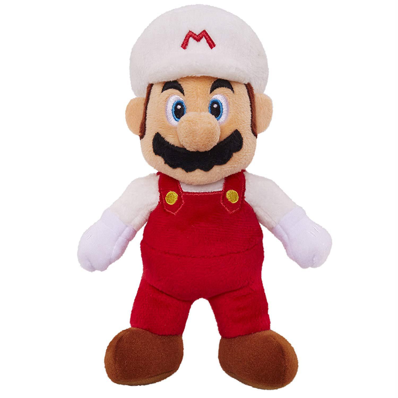Super Mario -  Fire Mario - Plüsch Figur 20 cm
