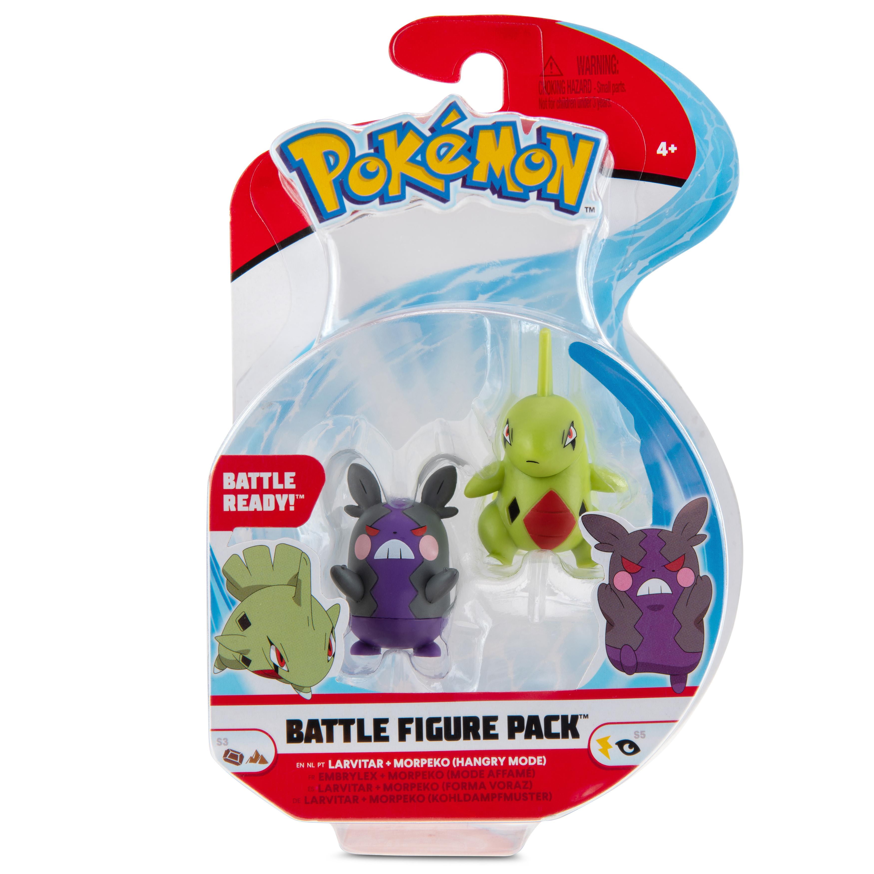 Pokémon - Battle Figure Pack - Larvitar & Morpeko