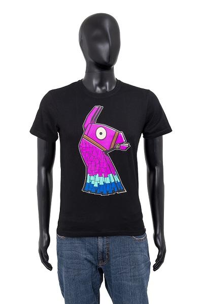Fortnite T-Shirt Lama schwarz Größe 140
