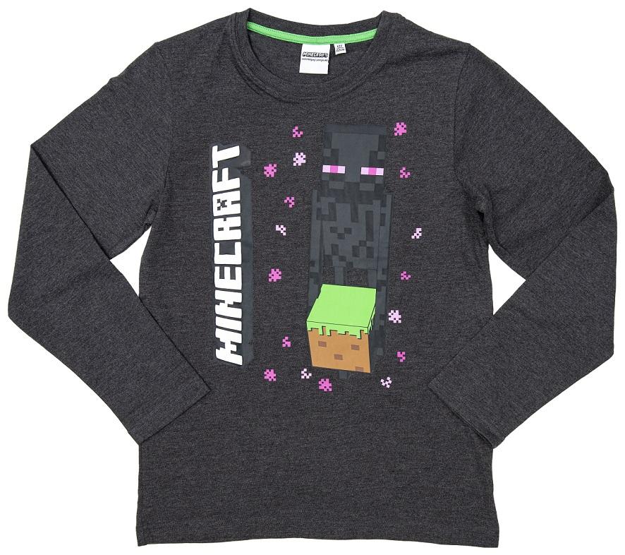 Minecraft Sweatshirt Enderman Drops grau Größe 140