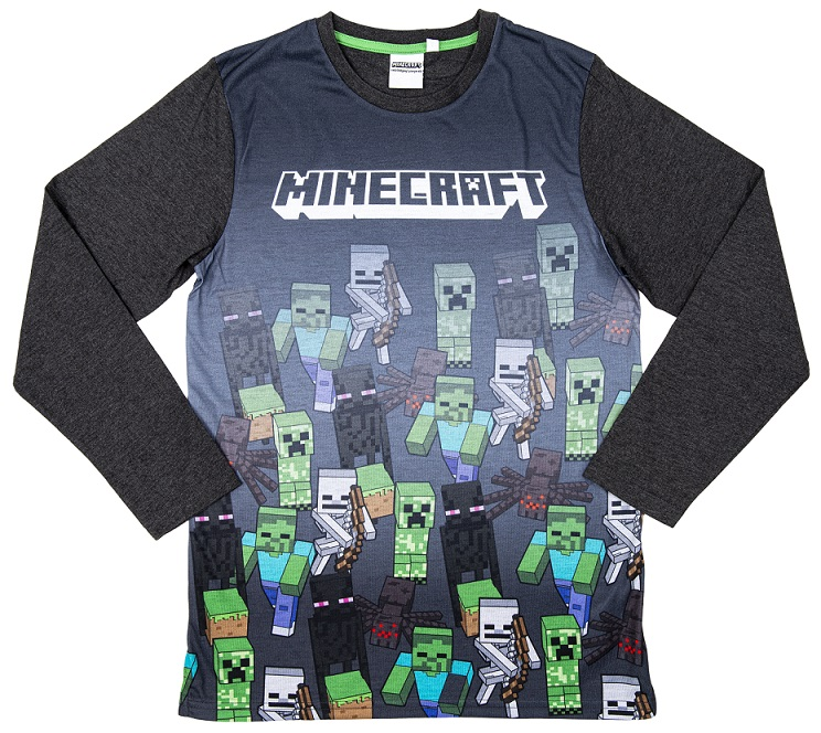 Minecraft Sweatshirt Marching Mobs grau Größe 116