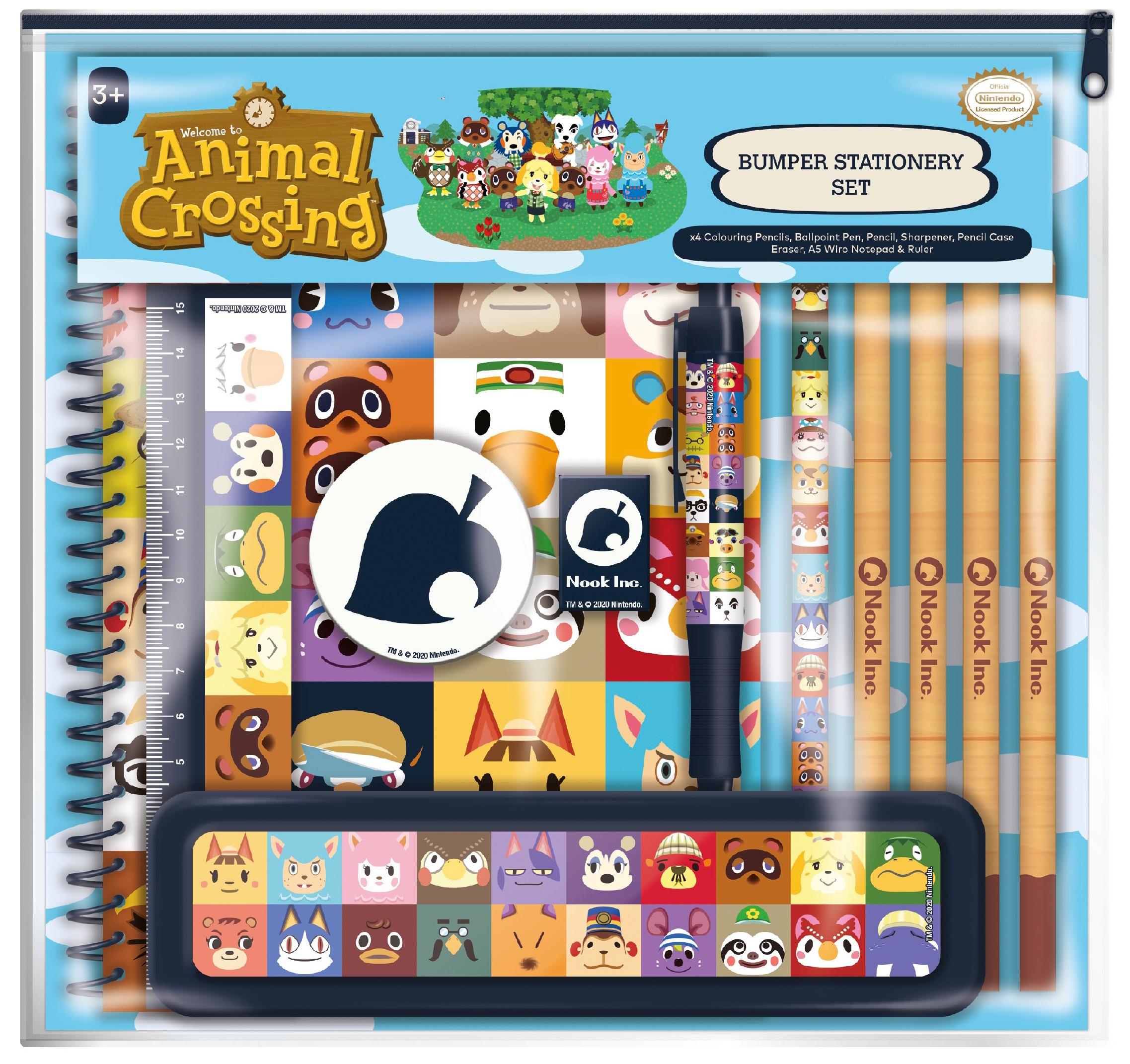 Schreibwaren-Set Animal Crossing