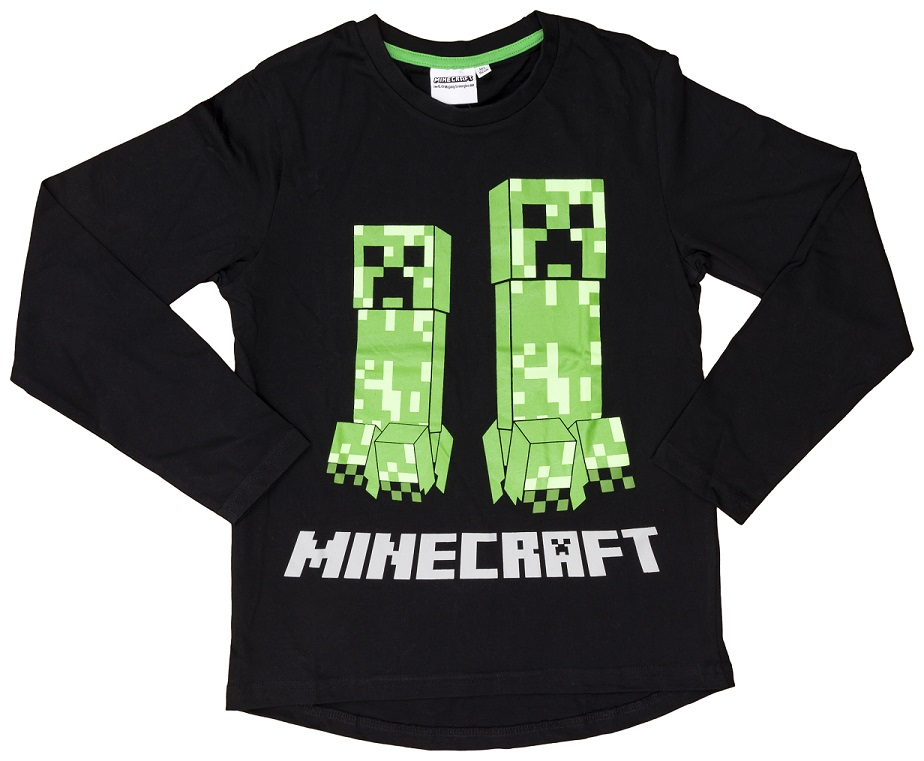 Sweatshirt Minecraft schwarz/grün Größe 128