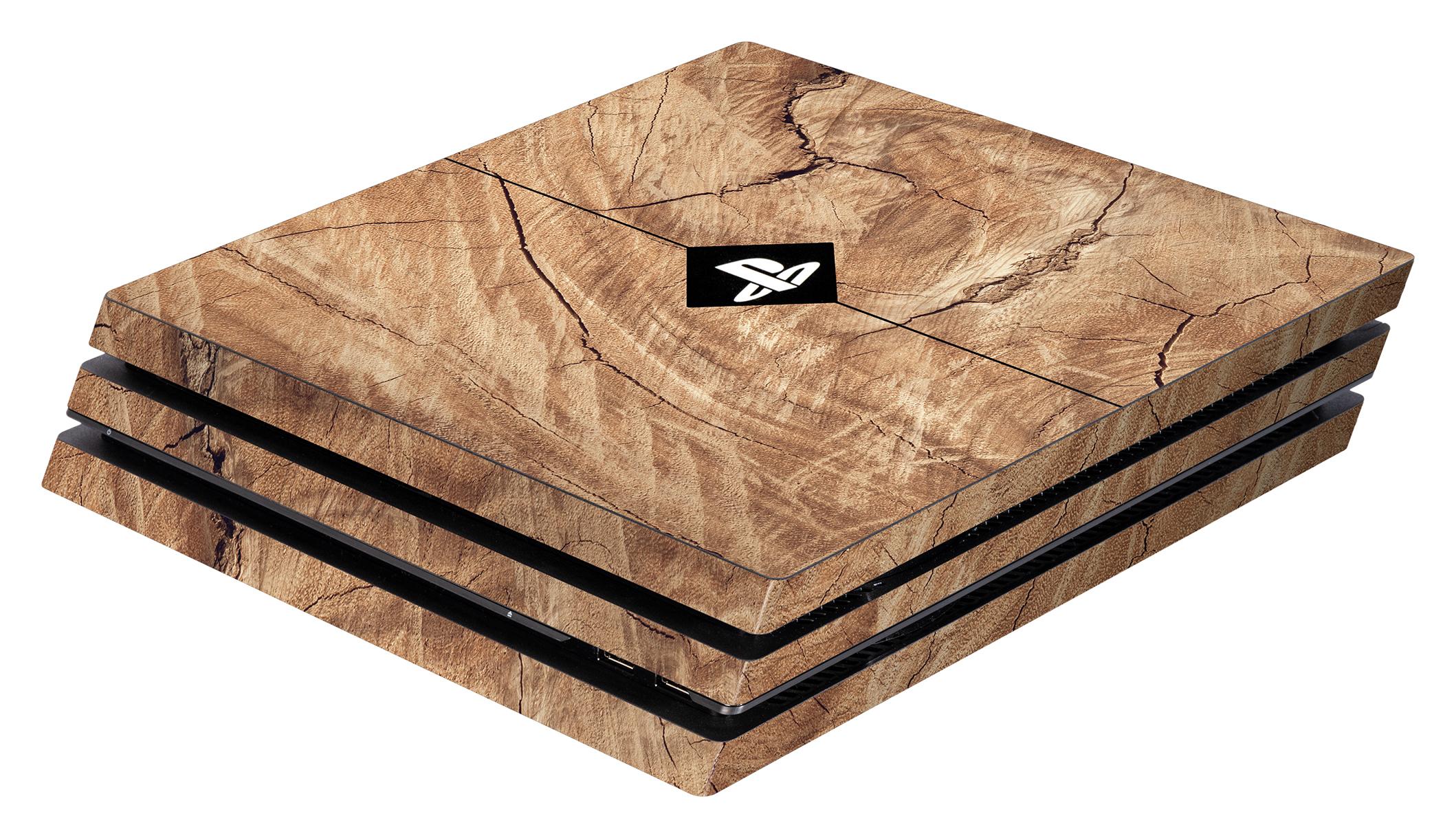 Skins - Sticker für PlayStation 4 Pro Konsole (Wood)