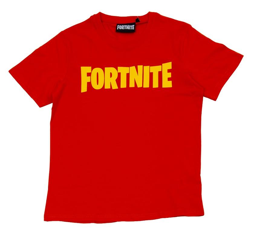 Fortnite T-Shirt Kids Logo rot Größe 140