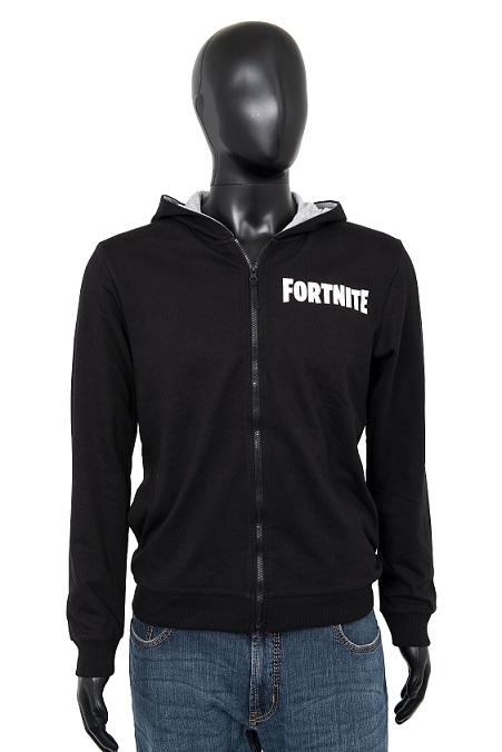 Fortnite Hoodie Logo schwarz/grau Größe 140