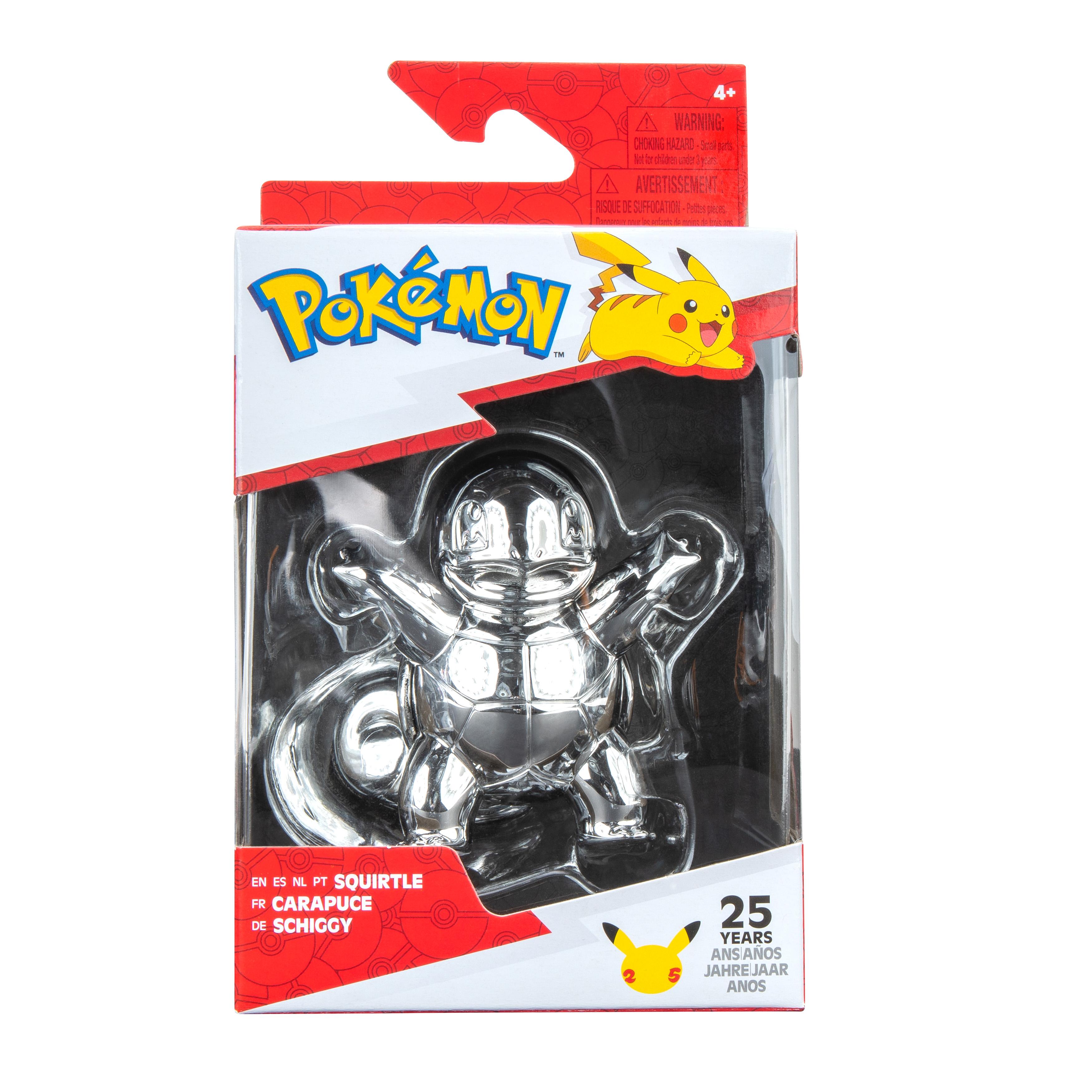 Pokémon - Select Battle Figur - Schiggy silber
