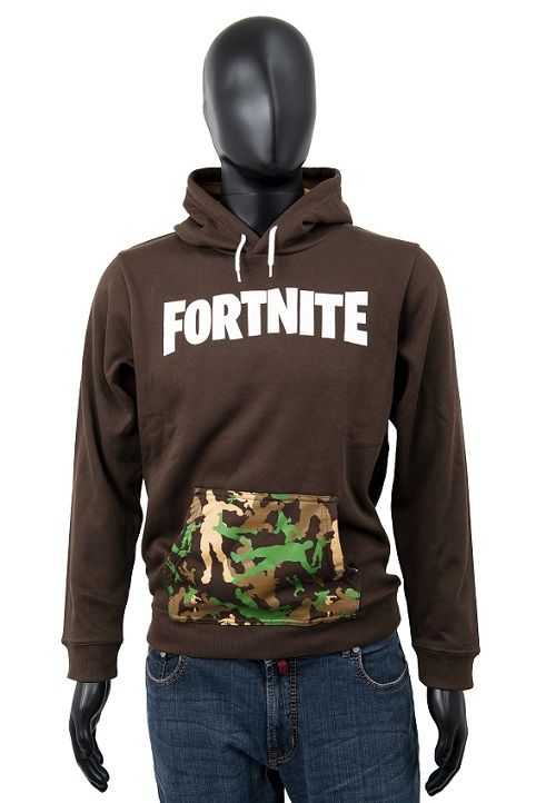 Fortnite Hoodie Kids Logo braun Größe 140