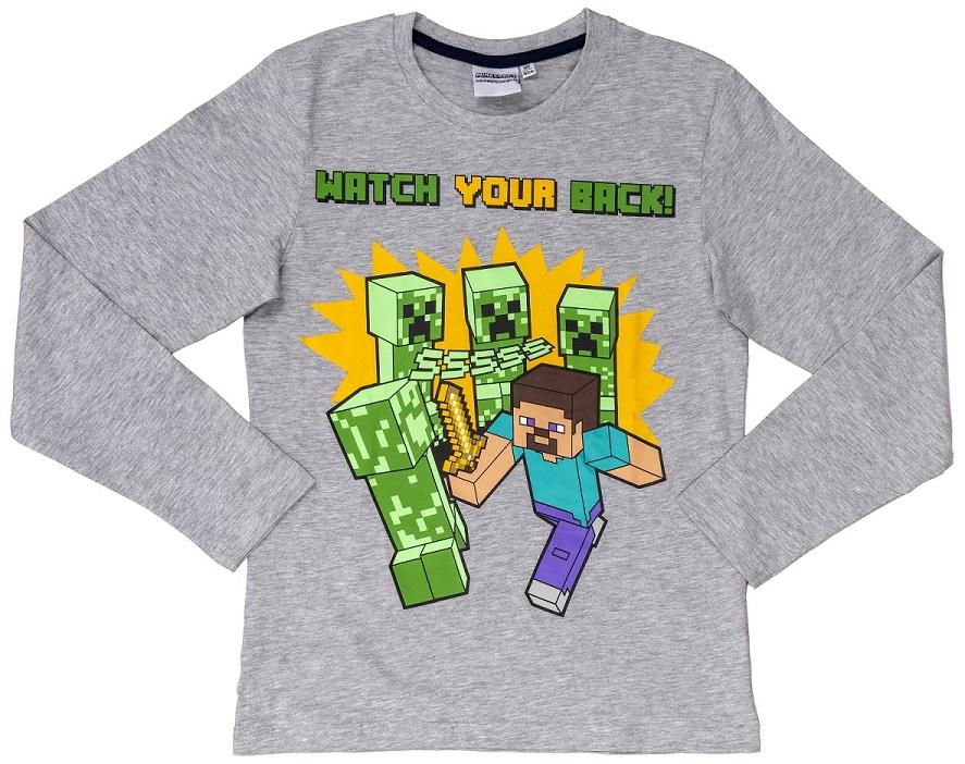 Sweatshirt Minecraft grau Größe 152