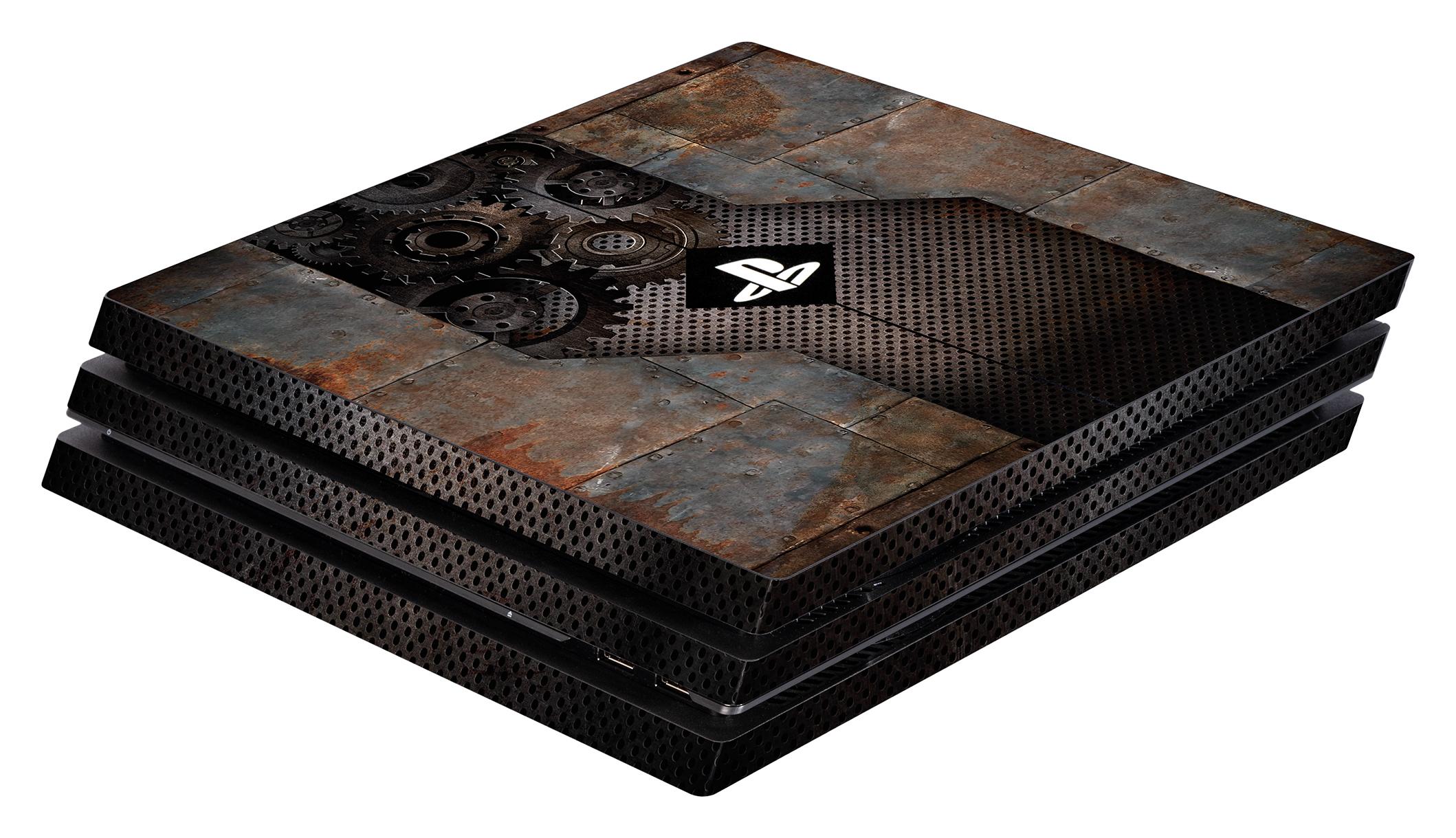 Skins - Sticker für PlayStation 4 Pro Konsole (Rusty Metal)