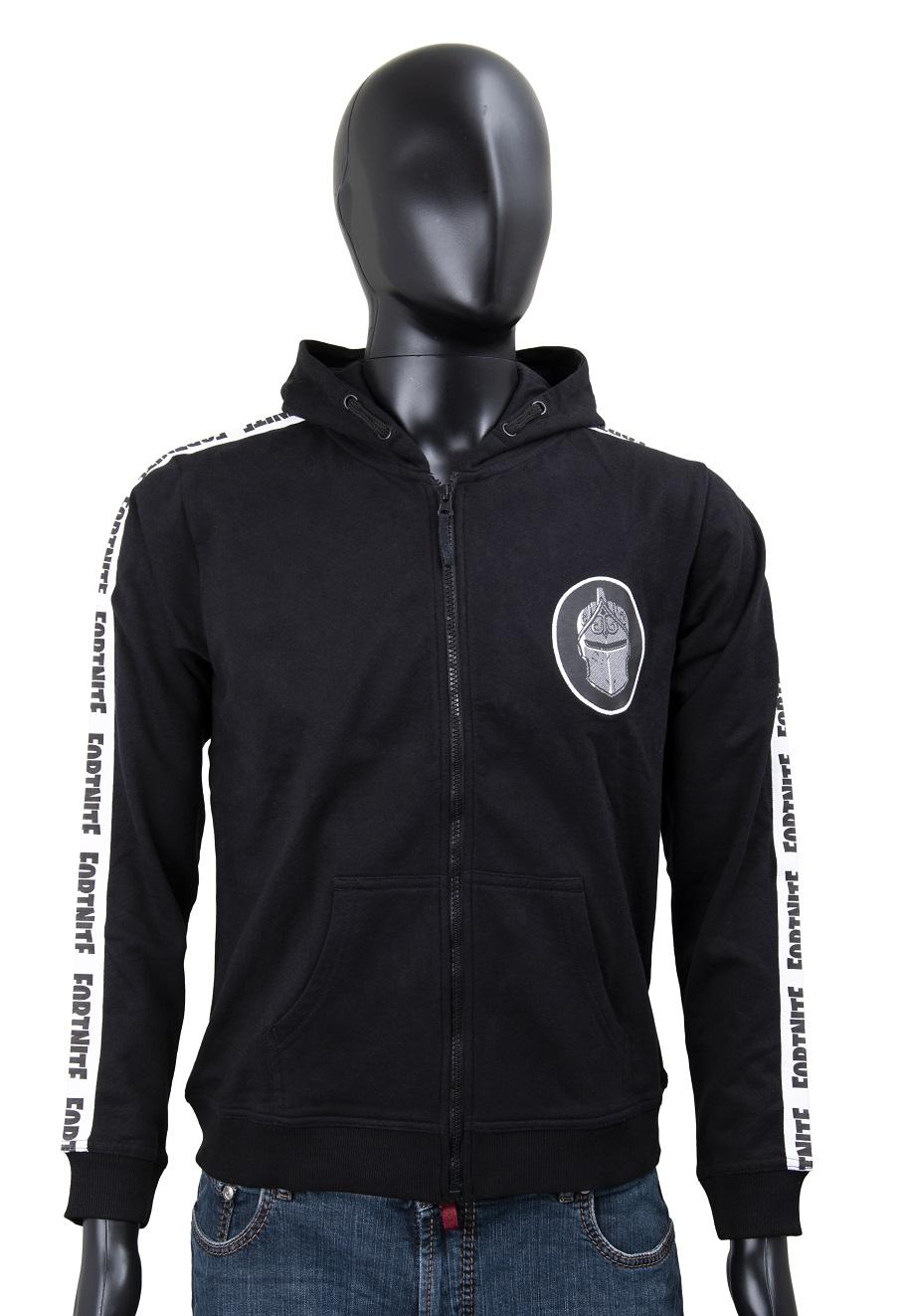 Fortnite Sweatjacke Logo schwarz/weiß Größe 152