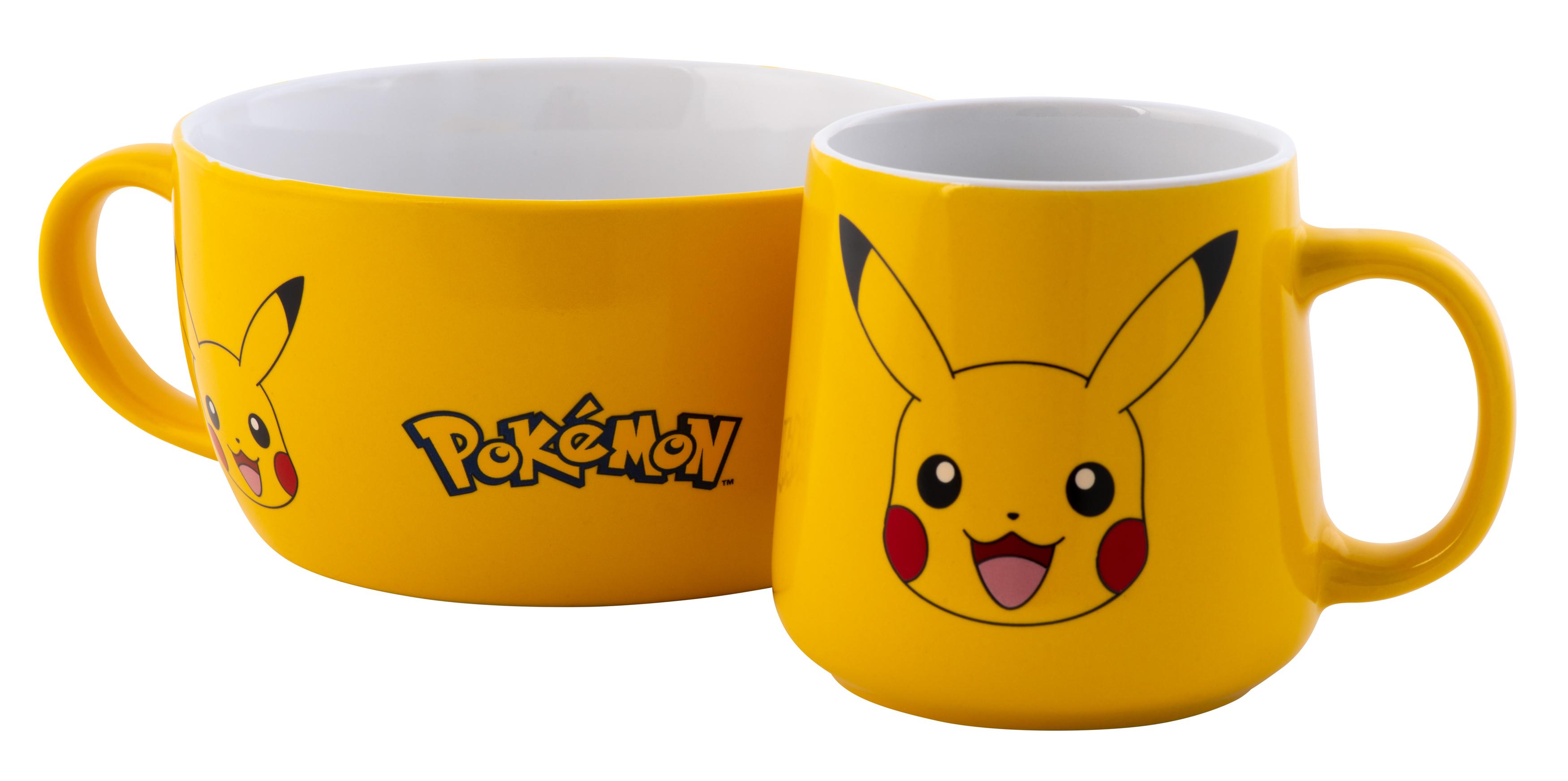 Frühstücksset (Tasse & Müslischale) - Pokémon - Pikachu